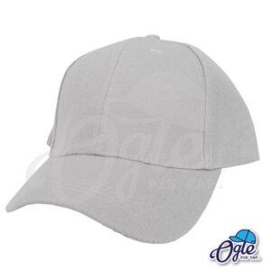 หมวกแก๊ป-สีเทา-ผ้าชาลี-เอียงข้าง
