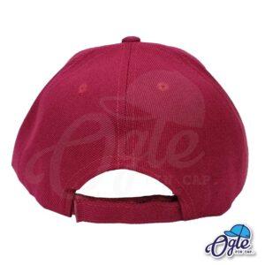 หมวกแก๊ป-สีเลือดหมู-ผ้าชาลี-ด้านหลัง