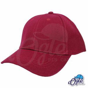 หมวกแก๊ป-สีเลือดหมู-ผ้าชาลี-เอียงข้าง