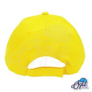 หมวกแก๊ป-สีเหลือง-ผ้าชาลี-ด้านหลัง