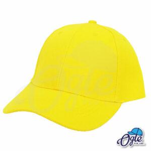 หมวกแก๊ป-สีเหลือง-ผ้าชาลี-เอียงข้าง