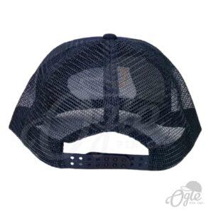 หมวกตาข่าย-สีกรมท่า-ปักโลโก้-DEPRO-ด้านหลัง